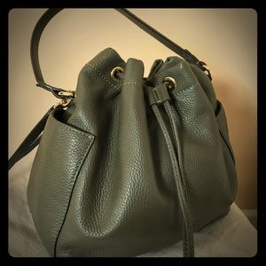 Banana republic olive green pouch purse